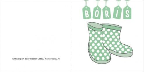 Geboortekaartje baby Boris B2